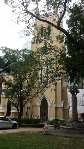 Catedral de São João lembra a influência inglesa e os tempos em que Hong Kong pertenceu à Inglaterra