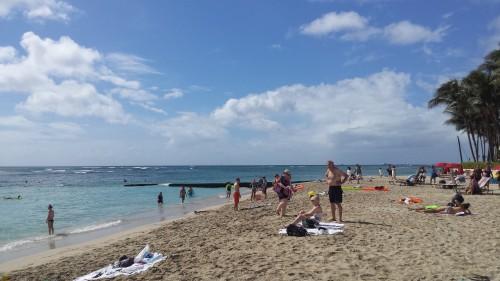 A areia não é linda, mas o mar...